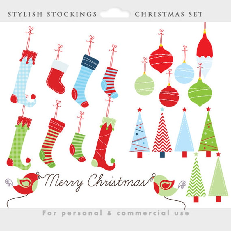 Christmas stockings clipart.