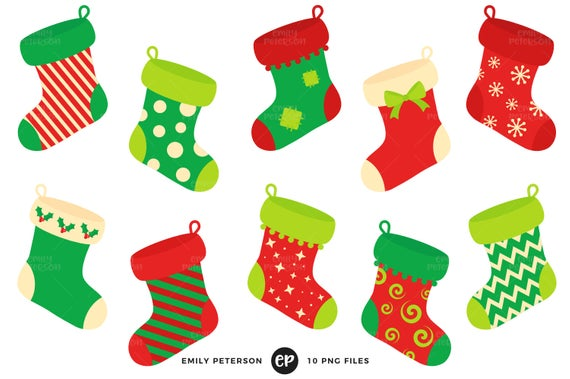 Christmas Clip Art, Stockings Clipart, Fireplace Clip Art.