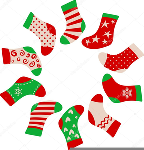 Xmas Stockings Clipart.