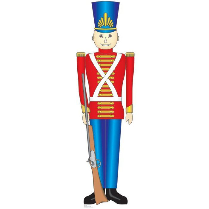 Christmas Toy Soldier Cardboard Stand.