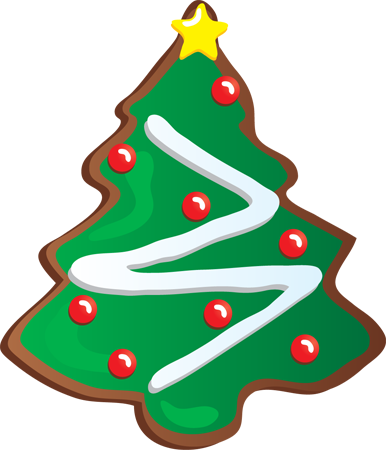 Christmas Spelled Out As A Cookie Clipart.