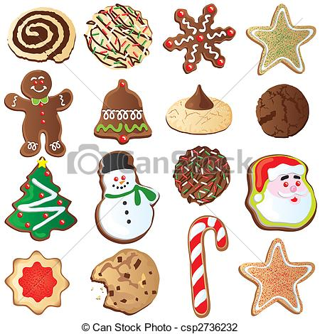Christmas Cookie With Sprinkles Clipart.