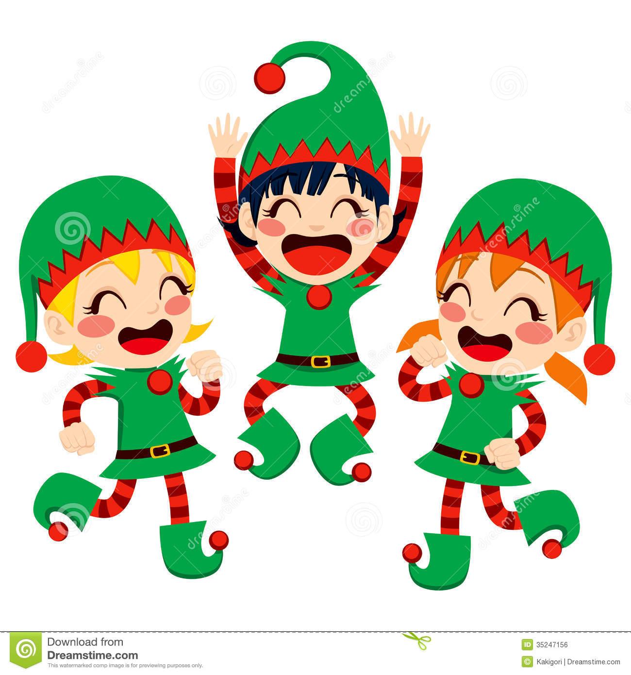 Christmas Dancers Clip Art.