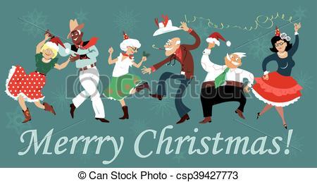 Vectors Illustration of Christmas square dance.