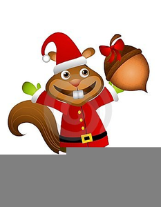 Christmas Clipart Squirrel.