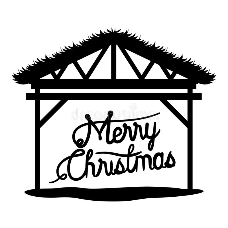 Christmas Stable Cartoon Stock Illustrations.
