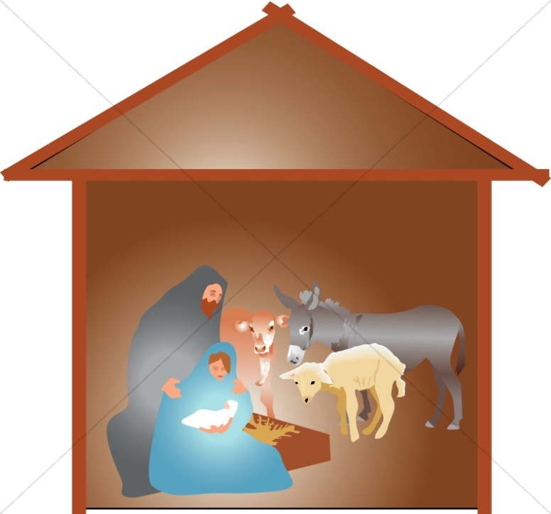 Nativity Scene with Animals.