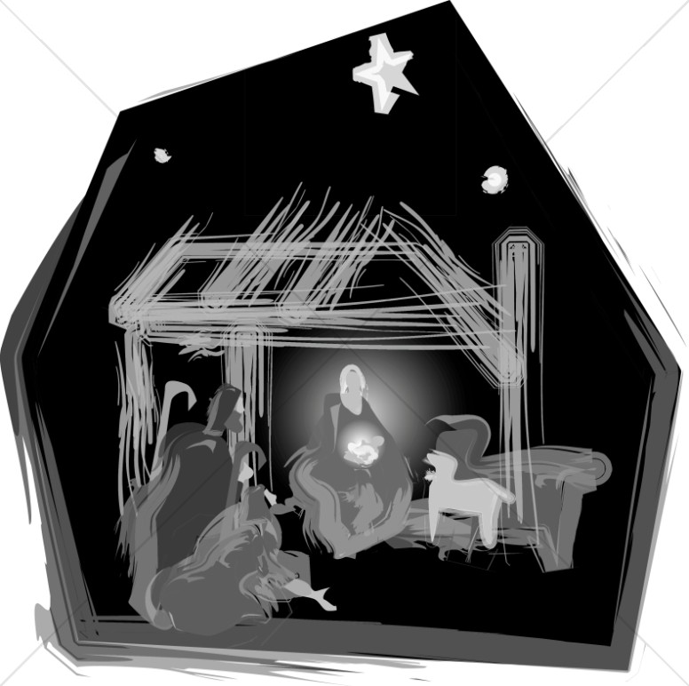 Nativity in Black and White.