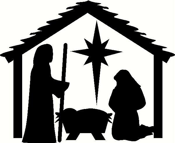 Nativity Clipart Black And White.