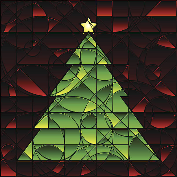 Best Christmas Stained Glass Patterns Illustrations, Royalty.
