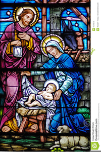 Christmas Stained Glass Clipart.