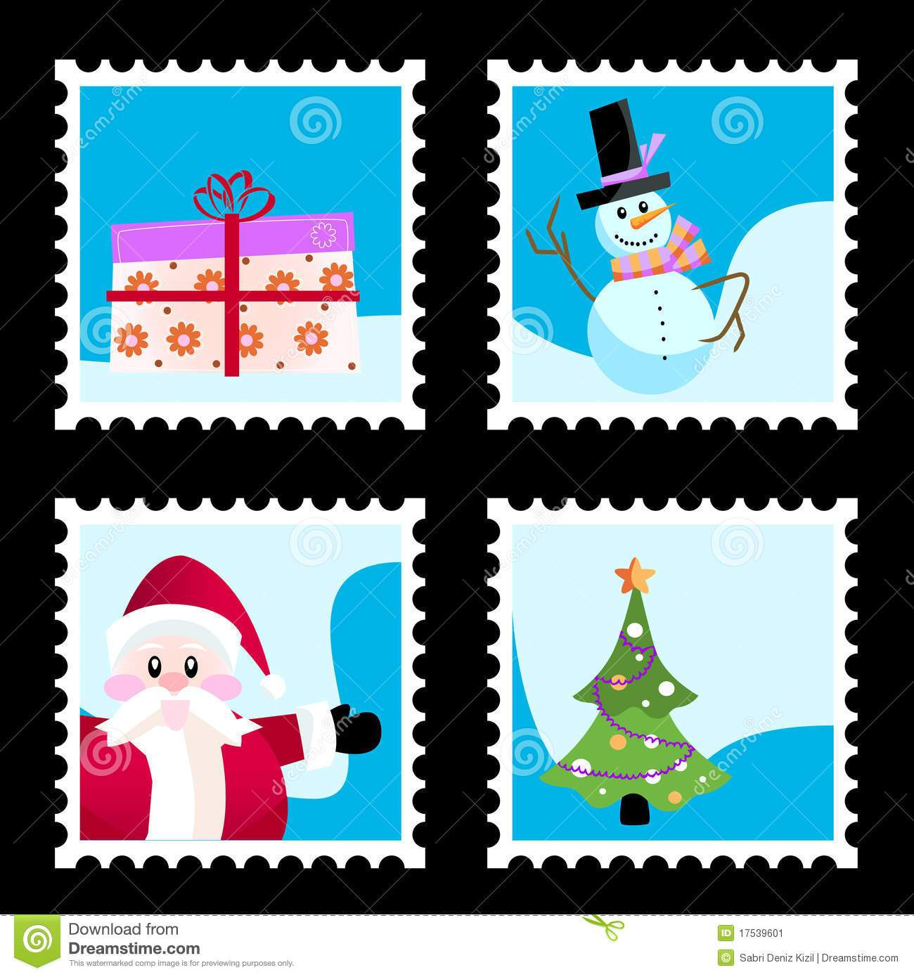 Christmas stamp clipart 7 » Clipart Portal.