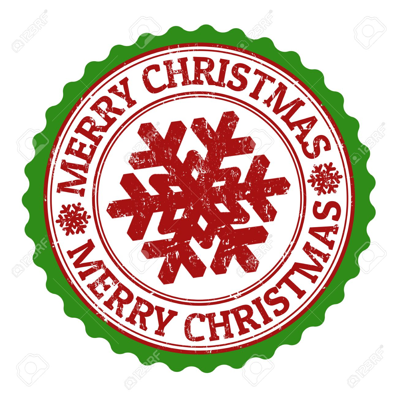 Merry Christmas grunge rubber stamp on white background, vector...
