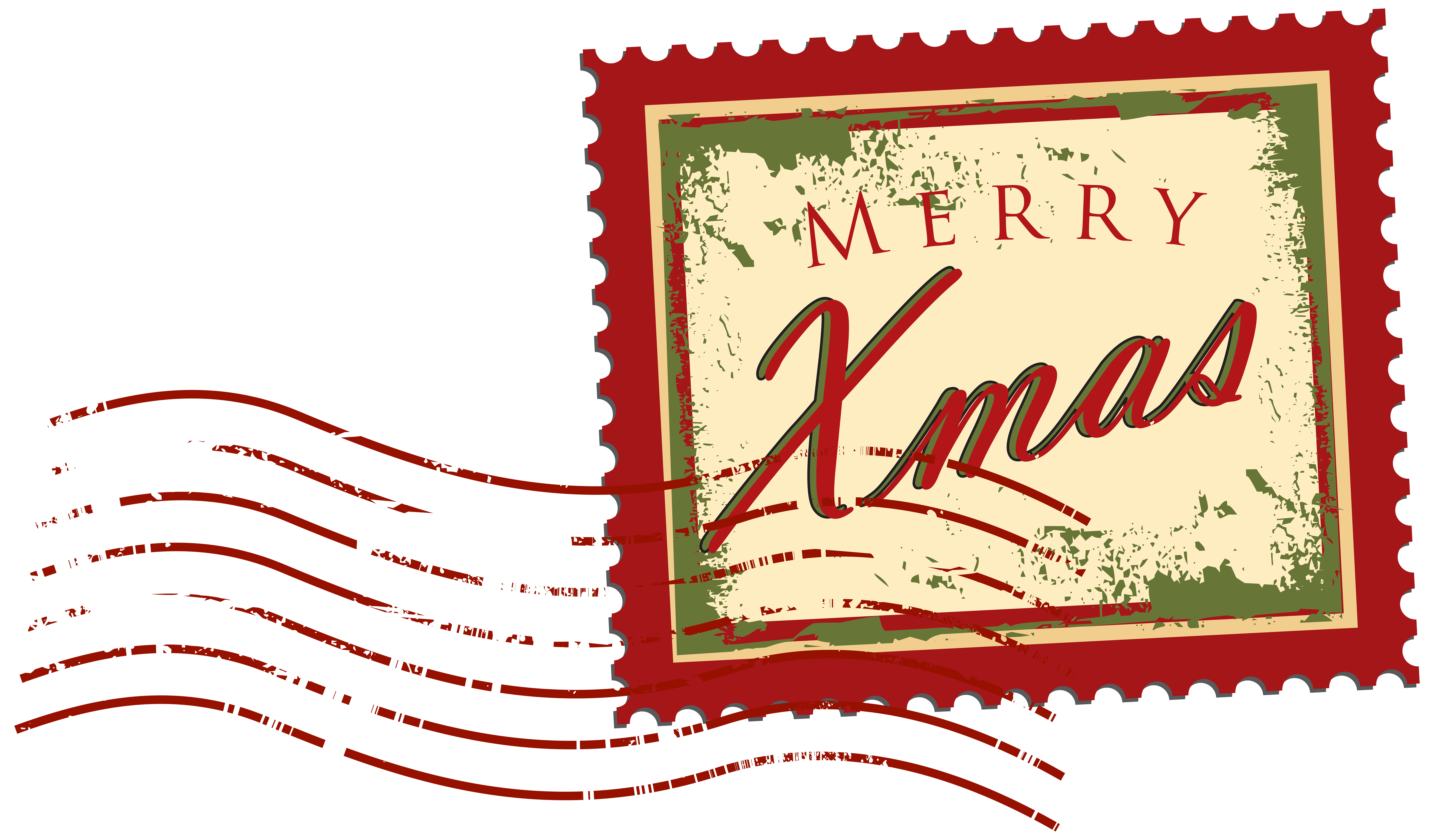 Christmas Stamp PNG Clip Art Image.