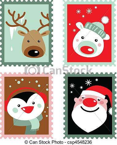 Christmas stamps.
