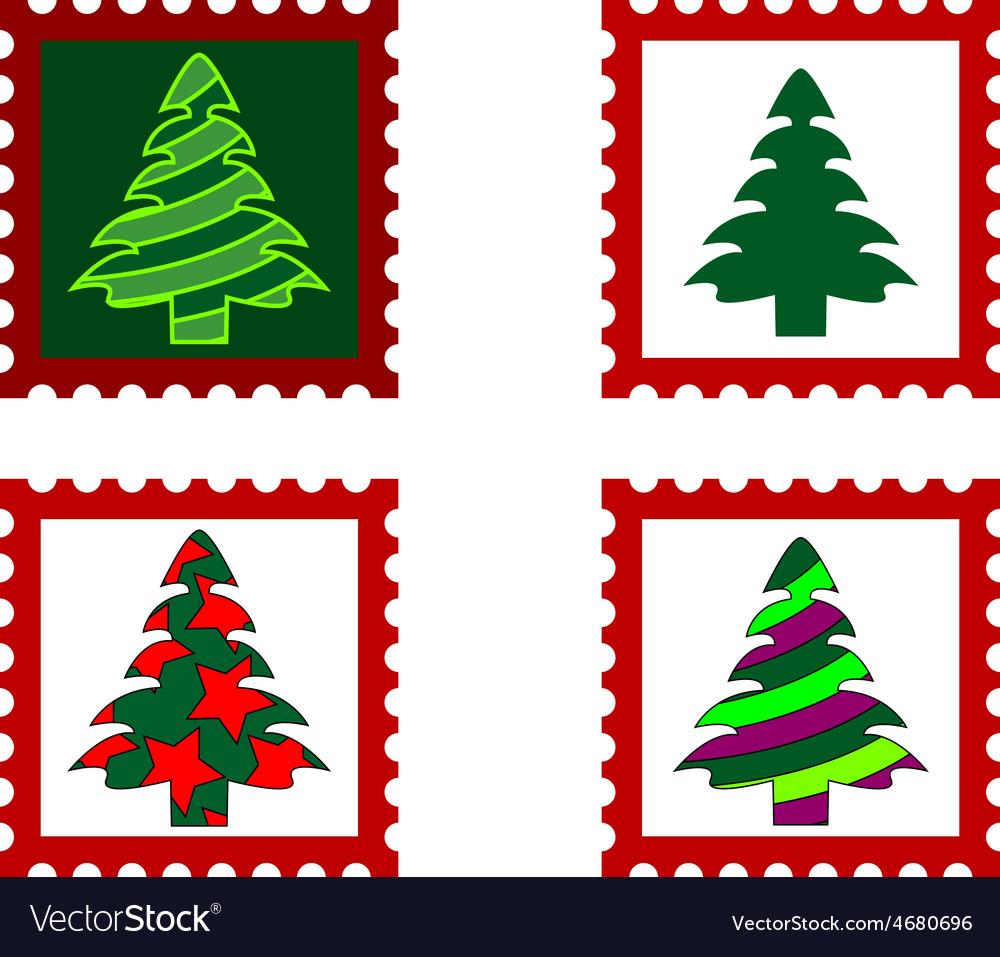 Christmas Postal stamp.