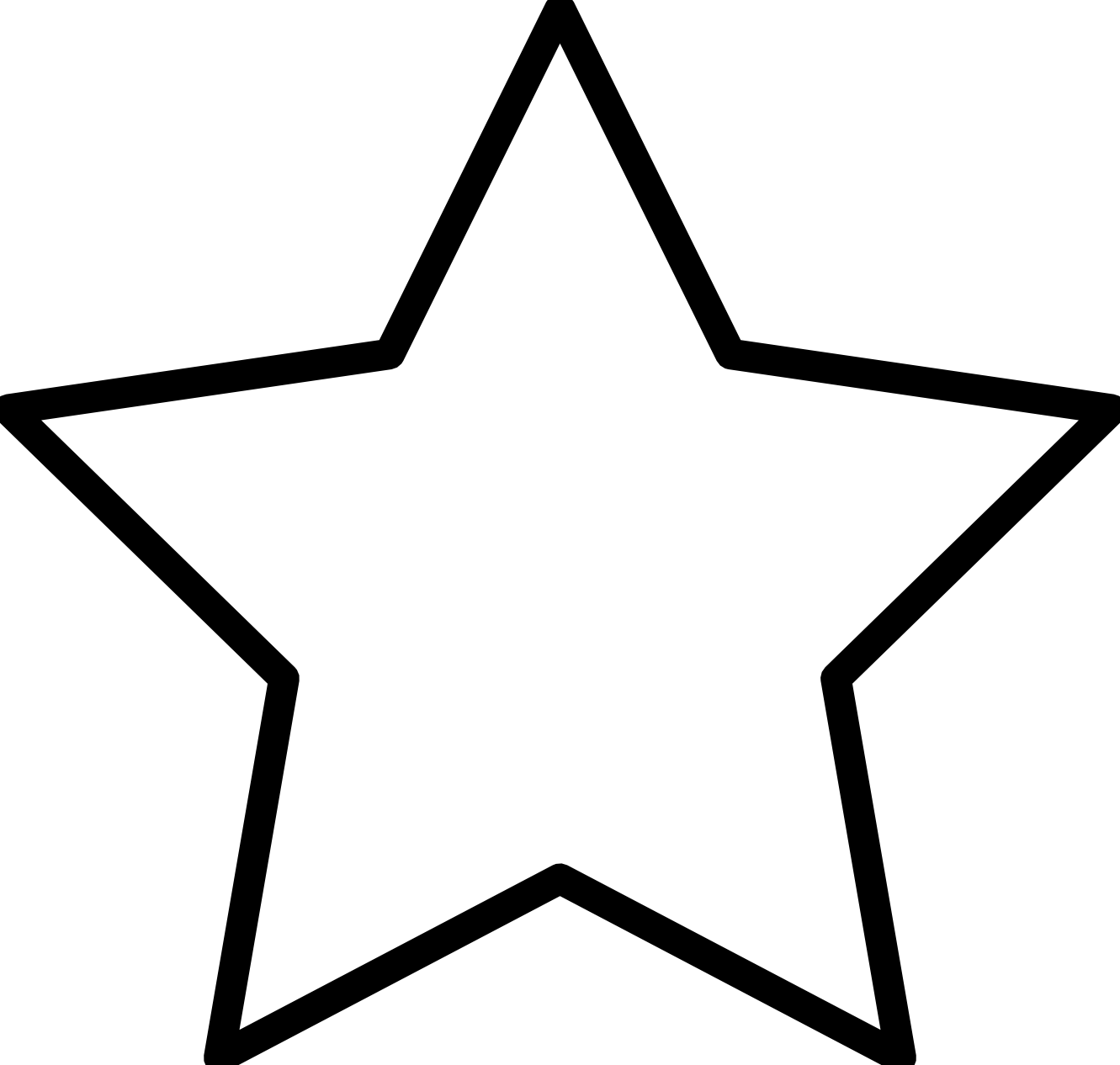 Clipart Of Stars Black And White.