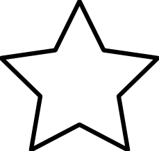 Black And White Clipart Star.