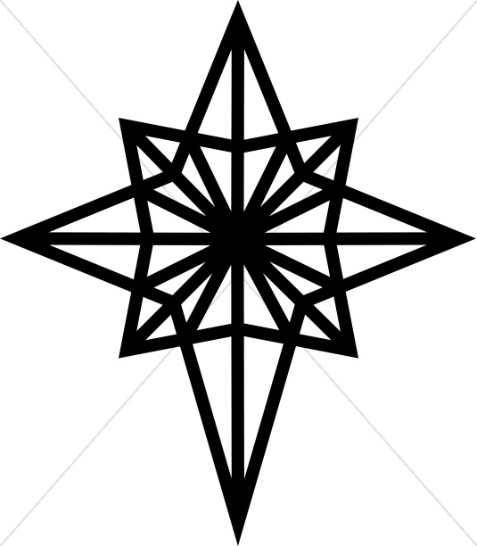 Christmas star clipart black and white 4 » Clipart Station.