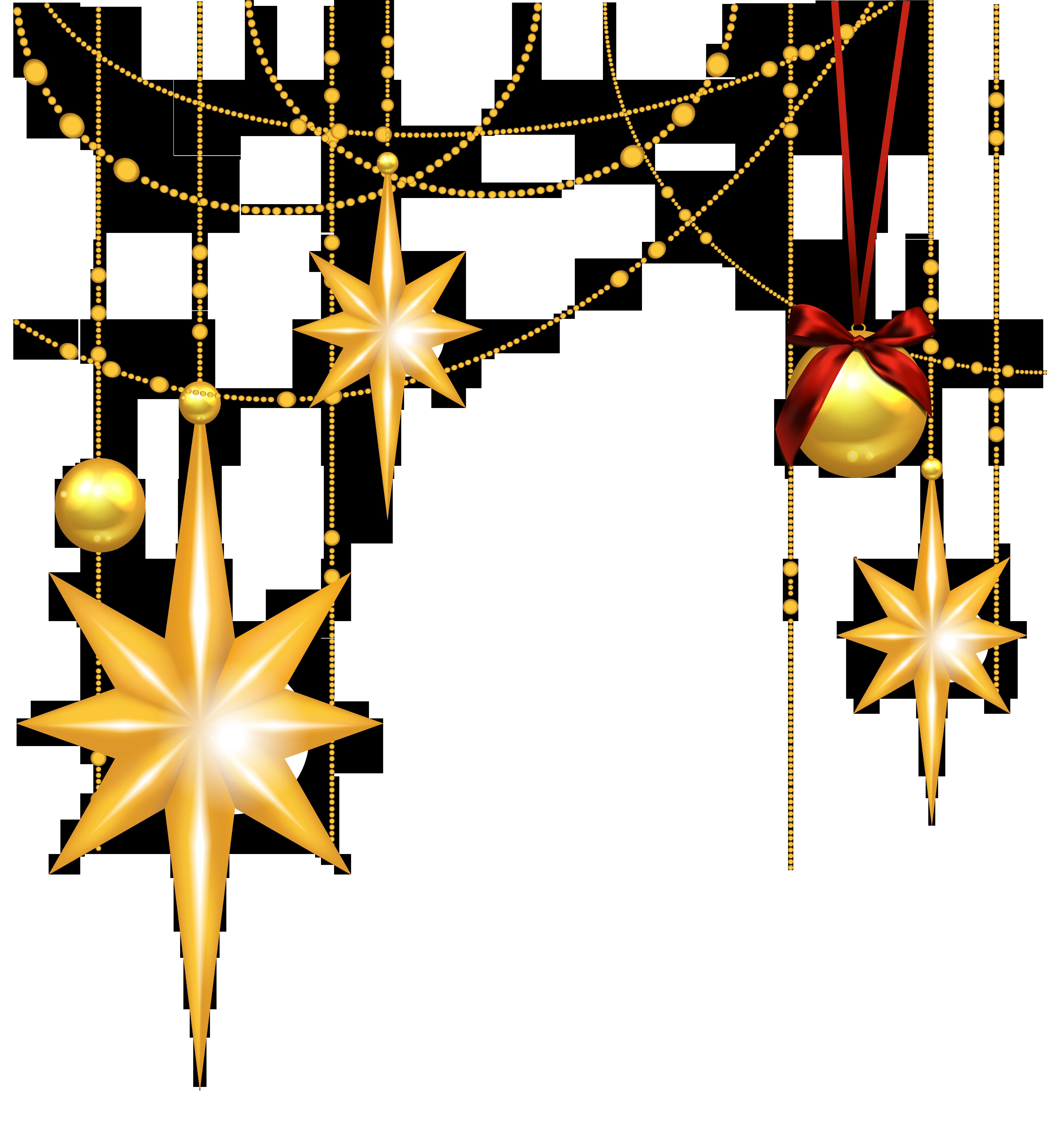 Christmas Star Border Clipart.
