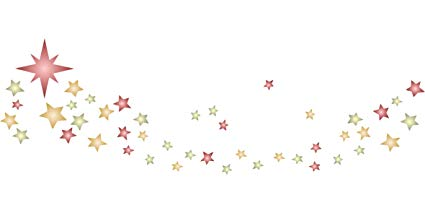 Stars Stencil Border.