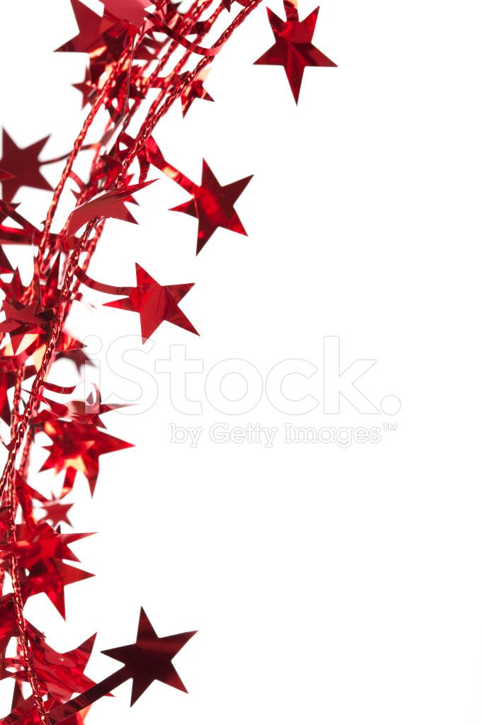 Border of Red Christmas Stars Stock Photos.