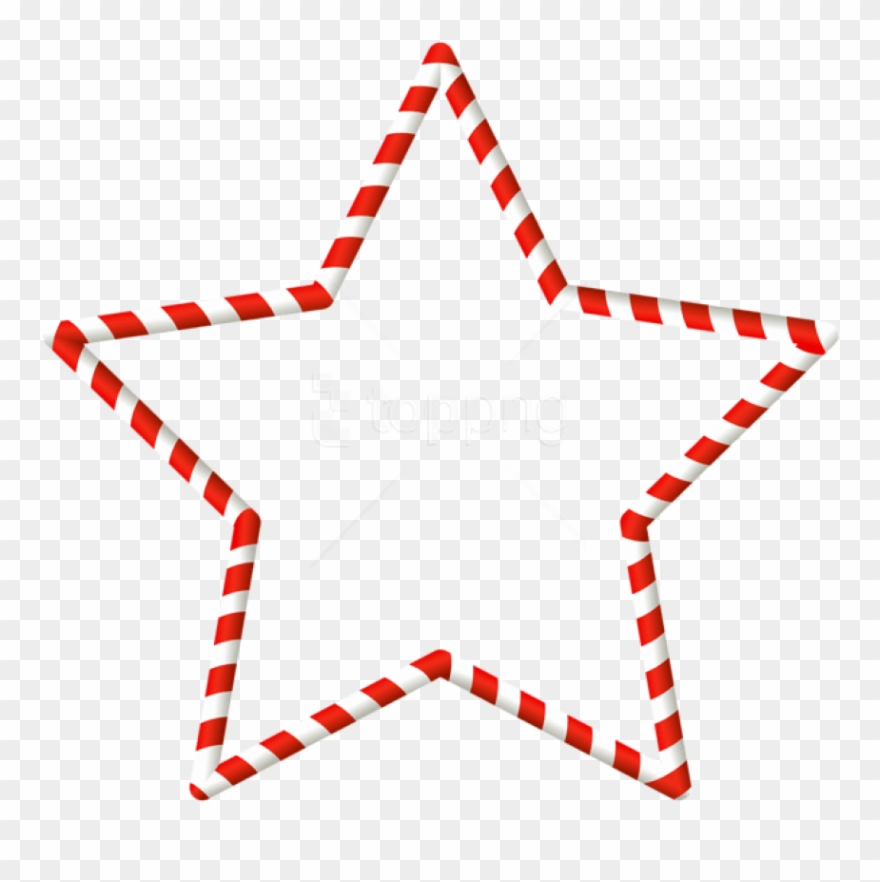 Christmas Candy Cane Star Border Png.