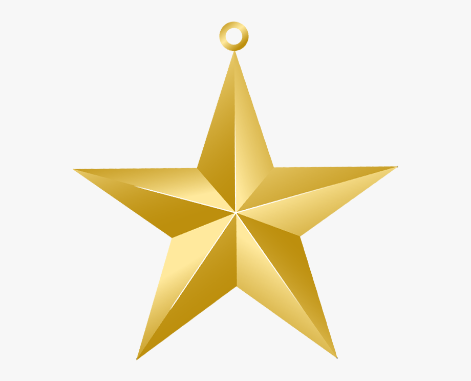Christmas Gold Star Png Picture Clip Art.