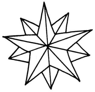 Christmas Star Clip Art Outline.