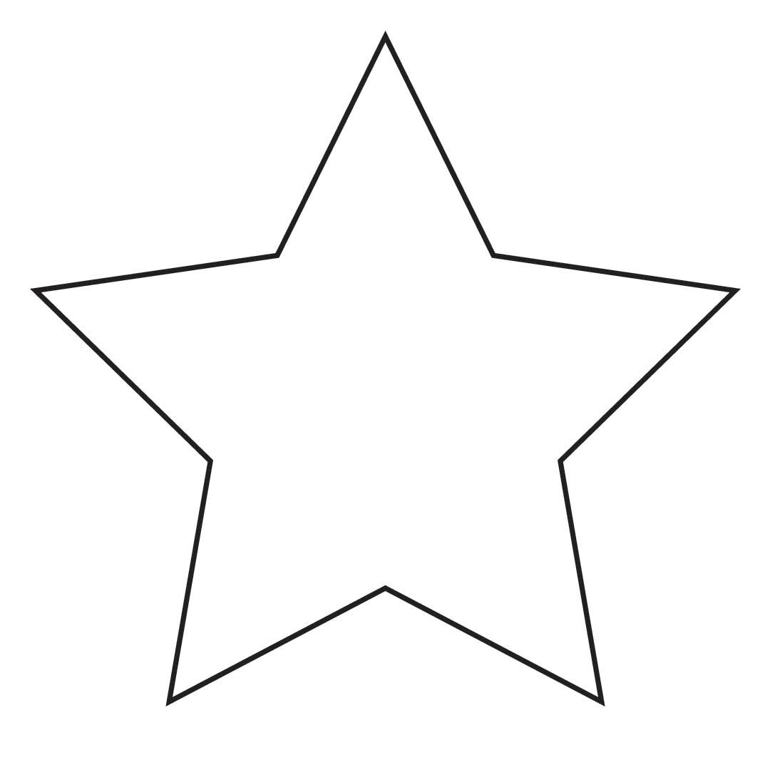 free clip art Rounded Star.