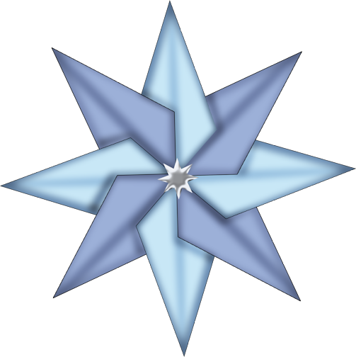 Blue Christmas Star Clipart.