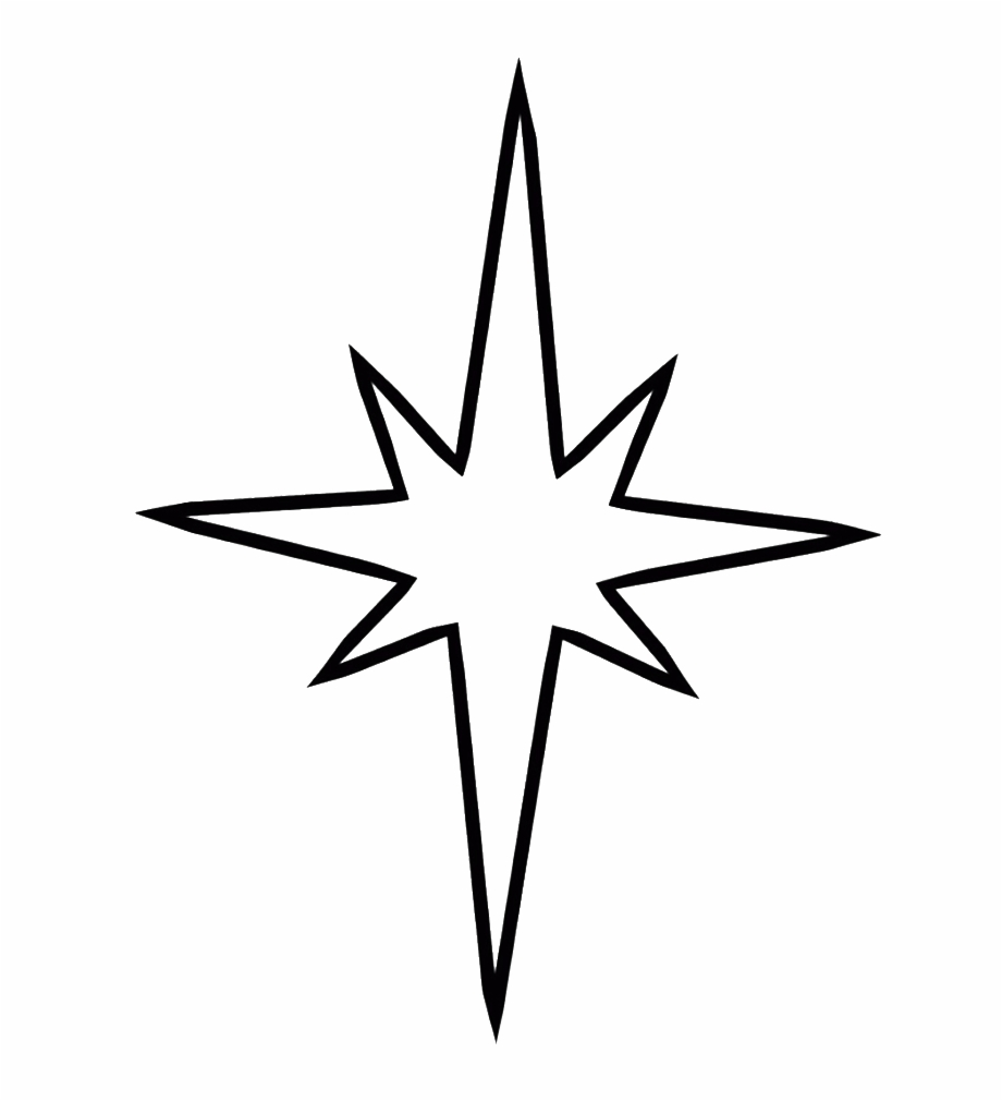 Svg Free Library Christmas Star Clipart Black And White.