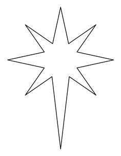 Christmas Star Printable, Bethlehem Star Pattern, Bethlehem.