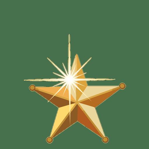Golden 3d christmas star.