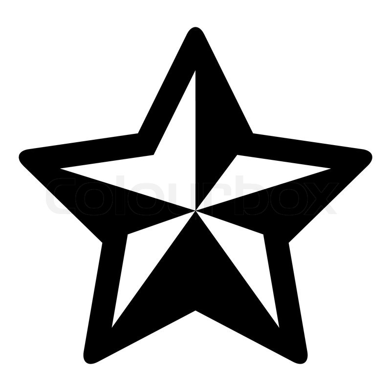 Simple black and white christmas star.
