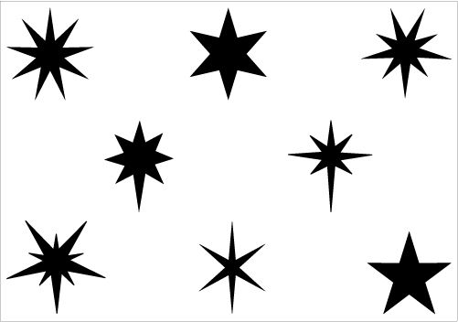 Christmas Star Silhouette Vector Graphics Pack.