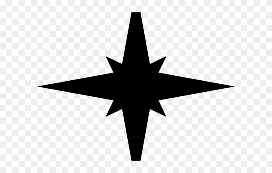 Silhouettes Clipart Christmas Star.