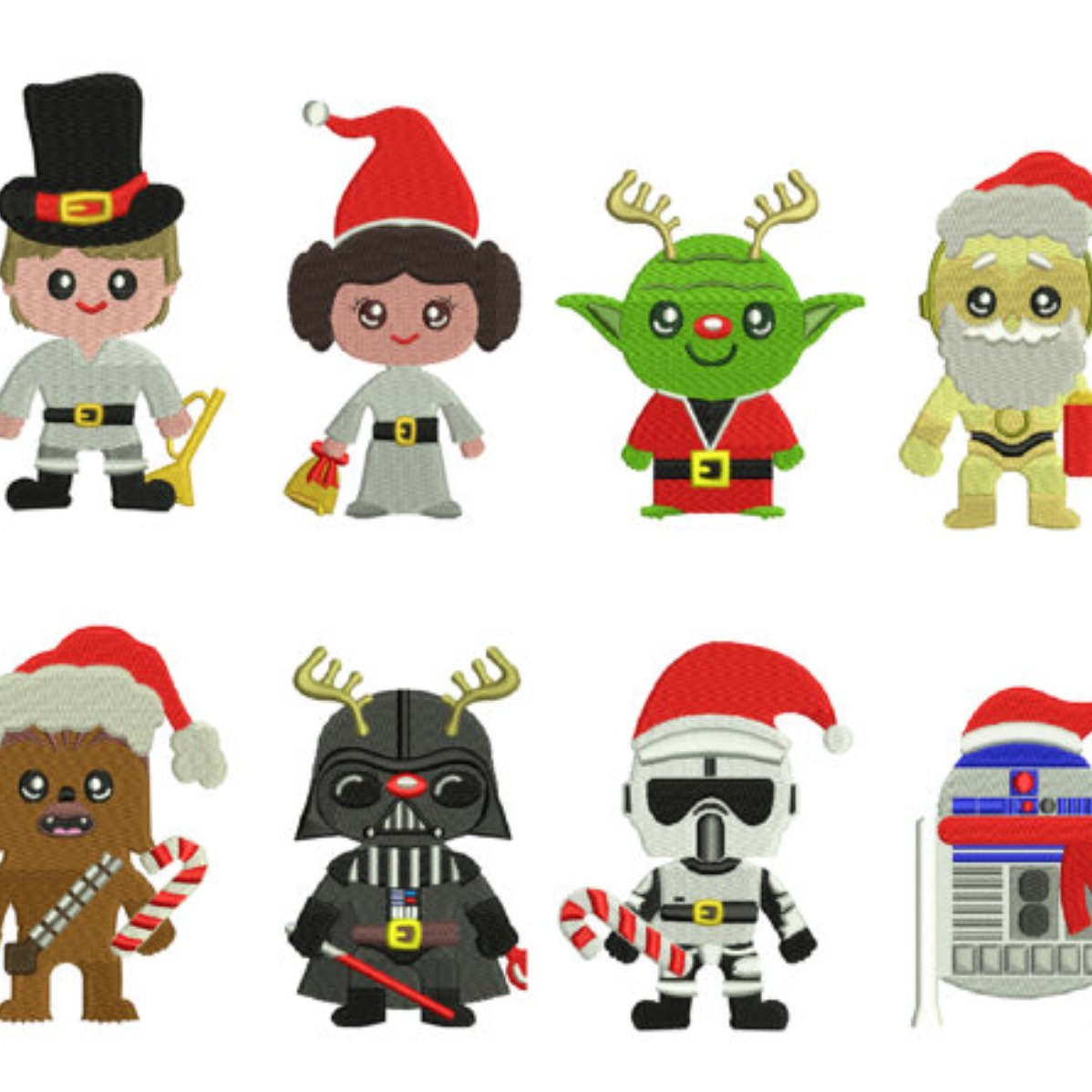 Star Wars Christmas Clipart.