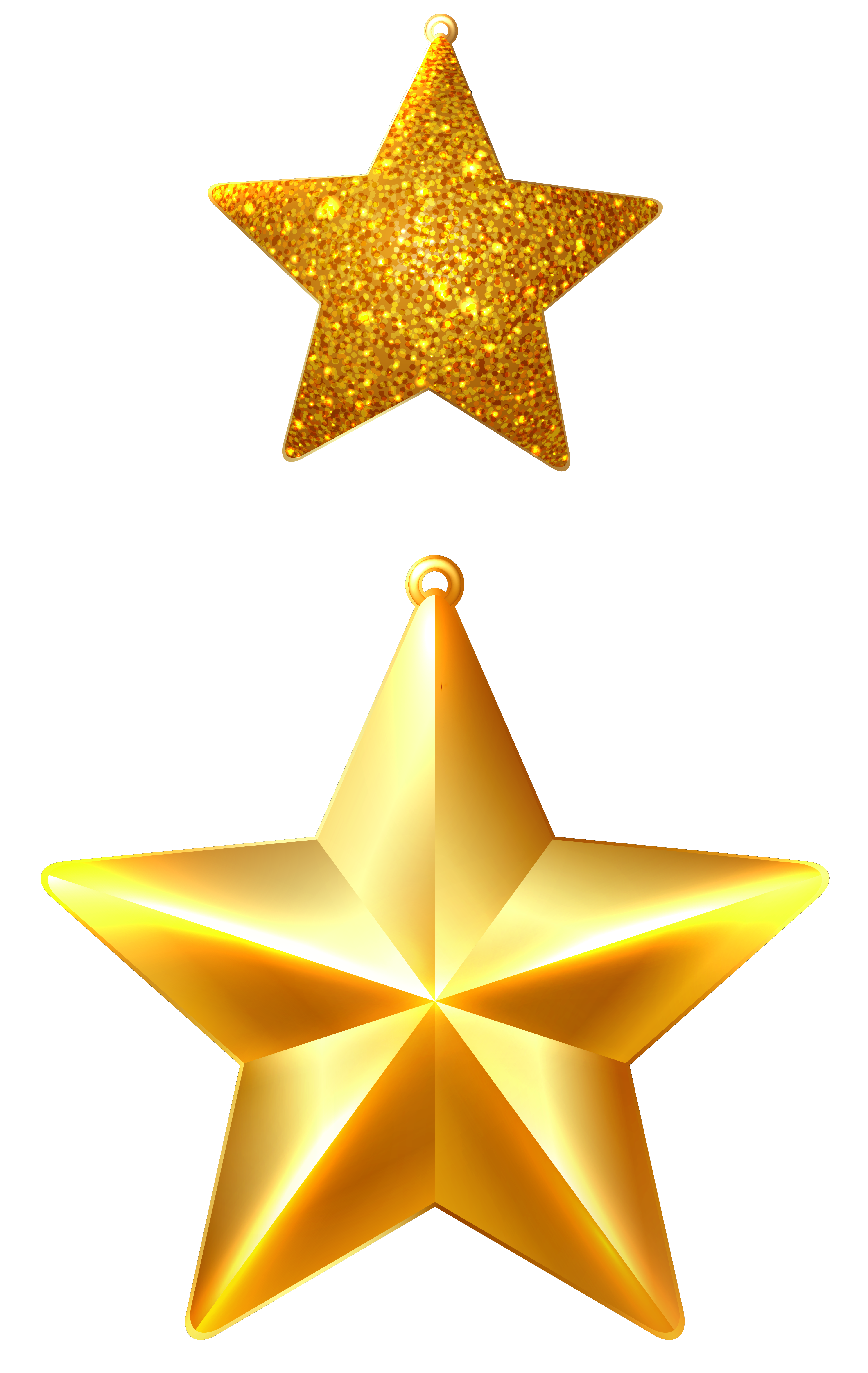 Christmas Stars Ornaments PNG Clipart Image.