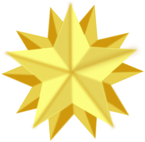 Shining Star Clipart With Transparent Background.