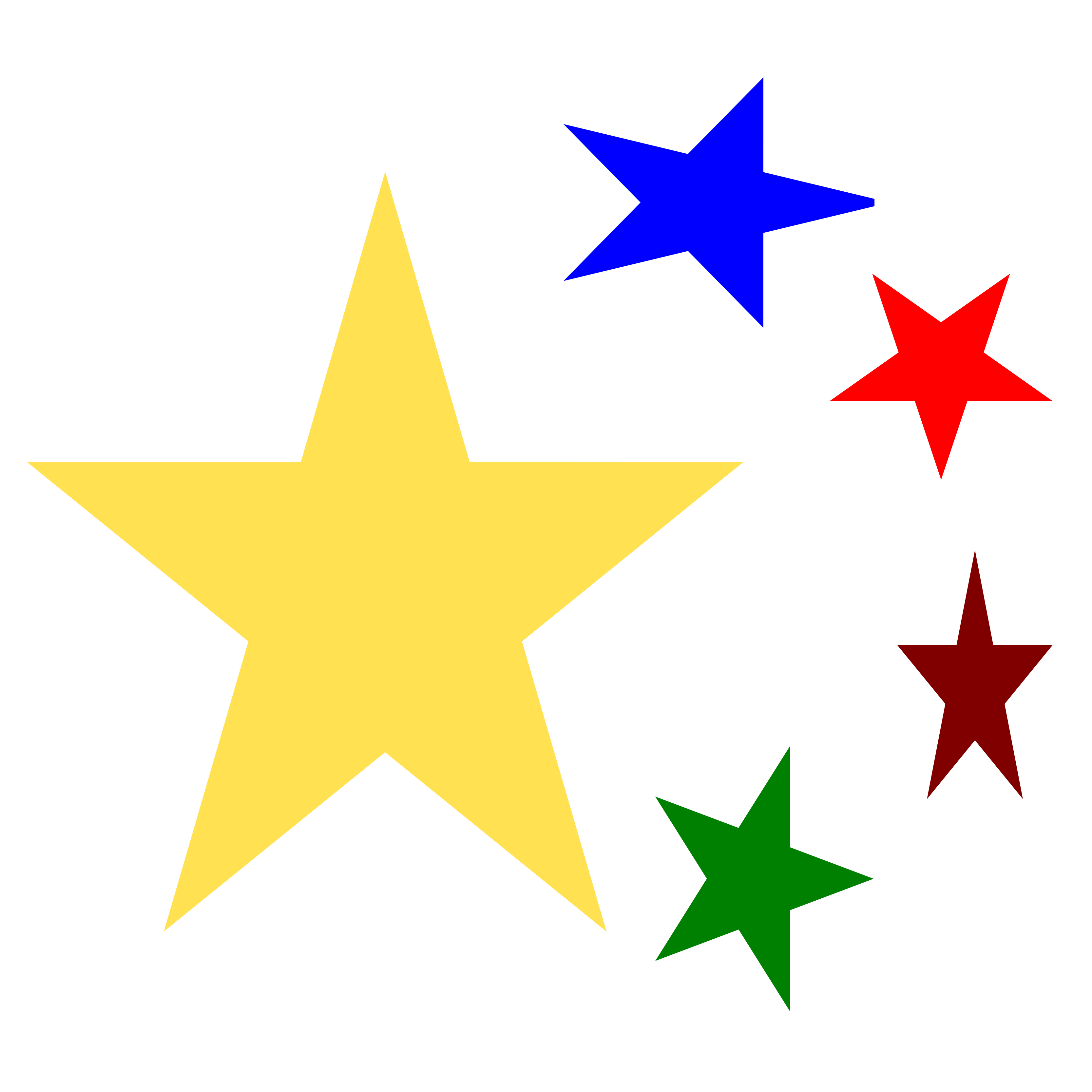 Christmas Stars Clipart Without Background.