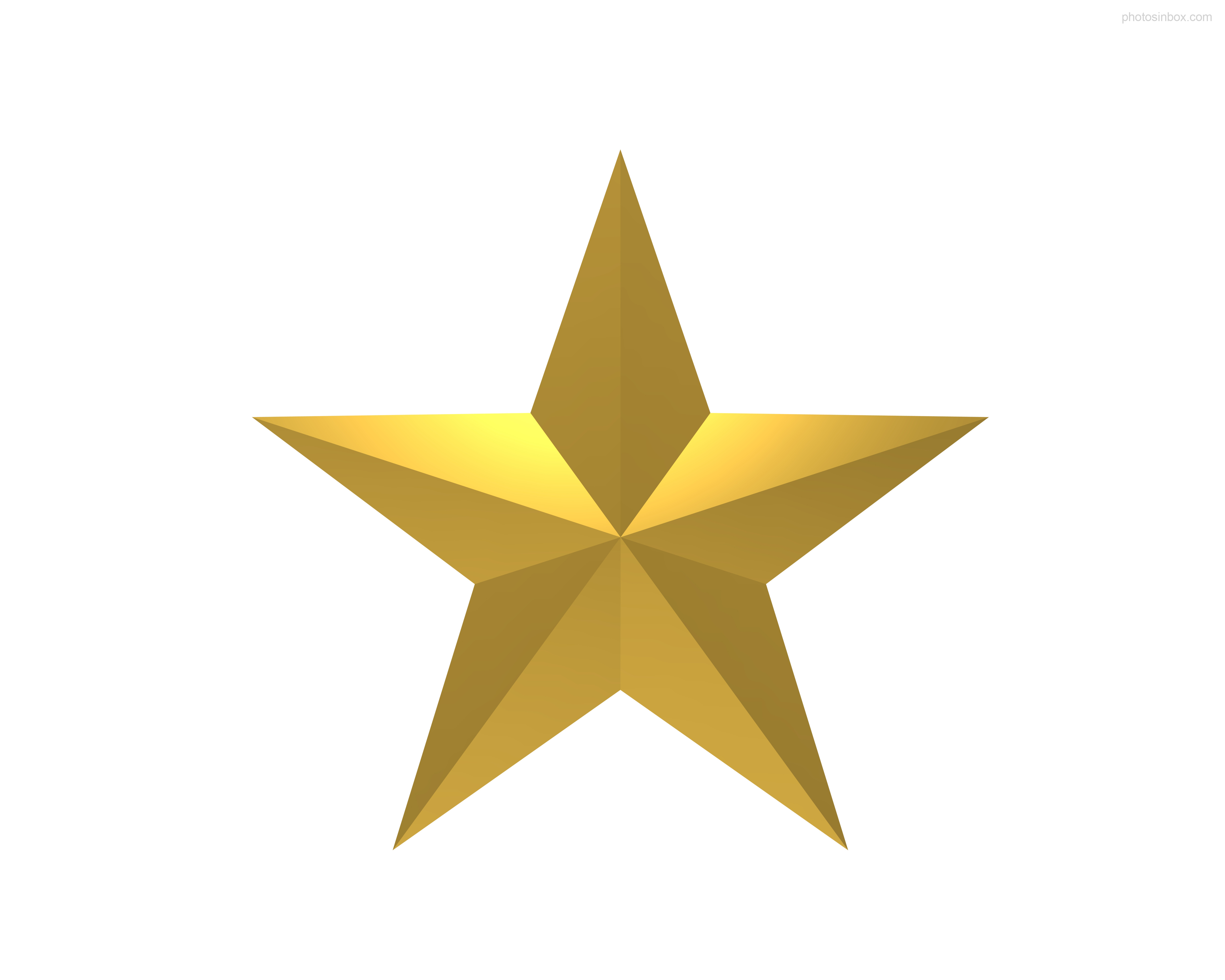 Gold star clipart transparent.