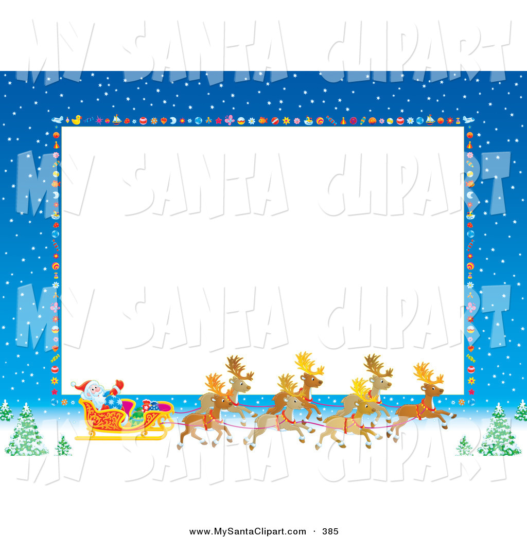 Royalty Free Stock Santa Designs of Stationery Borders.
