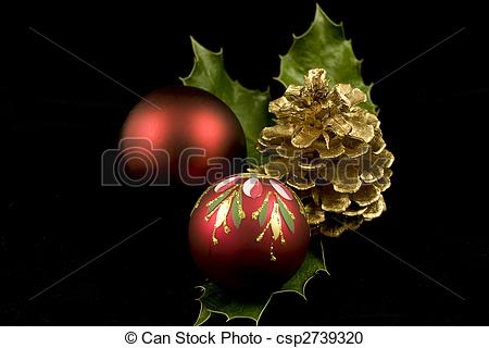 Stock Photography of Christmas Still Life.