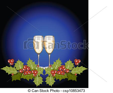 Vectors Illustration of Christmas still life.