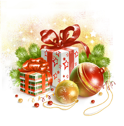 Christmas Still Life Clip Art, Vector Images & Illustrations.