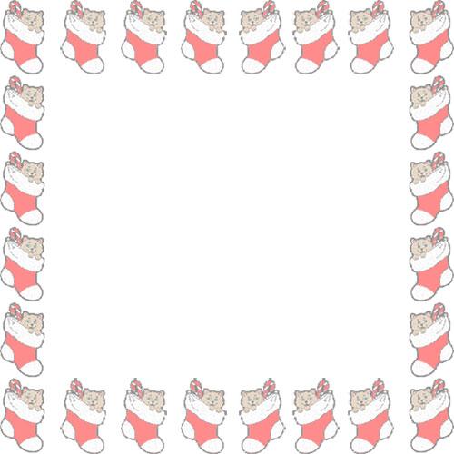 Christmas Stocking Border Clipart.