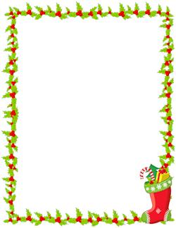 Christmas Stocking Border.
