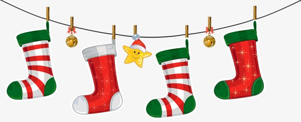 Christmas clip art sock.