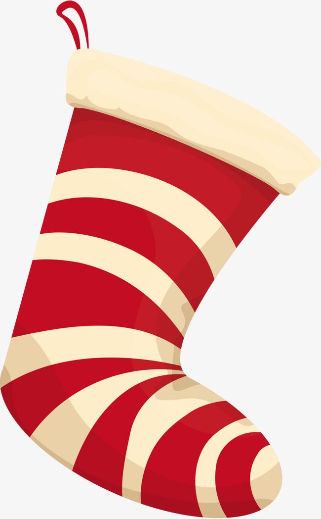 Red Cartoon Socks, Cartoon Clipart, Red Socks, Cartoon Christmas.